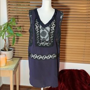 4 Love and Liberty Silk and Lace Dress